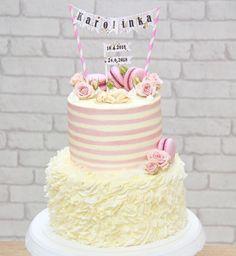 Vanilla Cake, Ruffles, Desserts, Pink, Vanilla Sponge Cake, Deserts, Dessert, Postres, Pink Hair
