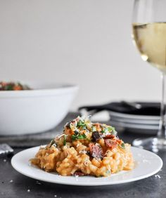 Roasted Sweet Potato Risotto from @How Sweet Eats