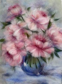 Купить Видеоурок Розовые пионы, подарок при покуке видеоуроков - бледно-розовый
