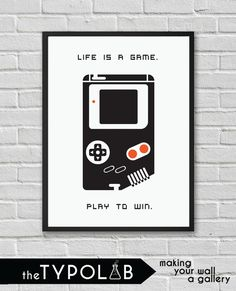 Typography Poster Art Print/ Life is a Game. Play to by theTypolab Typography Poster, Play, Art Prints, Game, Handmade Gifts, Kids, Art Impressions, Kid Craft Gifts, Young Children