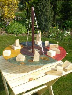 Catalogue Garden Games, Backyard Games, Outdoor Games, Outdoor Decor, Wooden Projects, Fun Projects, Fall Games, Diy Playground, Wooden Art