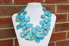 Hey, I found this really awesome Etsy listing at https://www.etsy.com/listing/180893117/jasper-necklace-blue-statement-ocean