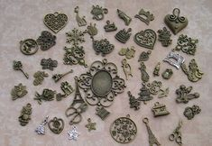 Many cute vintage charms.