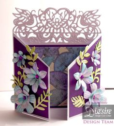 Debra Shaw - Die'sire Fancy Edge'ables - Amour Edge'ables - Sara Davies' Floral Delight Dies - Centura Pearl card - Kimono Paper - Collall 3D Glue Gel, Collall All Purpose Glue - #crafterscompanion