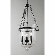 @Overstock.com - Antique Copper Finish Glass Lantern Chandelier - Vintage design lovers will adore this glittering glass lantern chandelier. It borrows its styling from the past with its large lantern-shaped shade that hangs suspended from a long copper chain, evoking memories of old-fashioned street lights.  http://www.overstock.com/Home-Garden/Antique-Copper-Finish-Glass-Lantern-Chandelier/4338599/product.html?CID=214117 $159.29