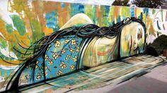 "Alice Pasquini - Italian Street Artist -""Ero un riflesso"" - Lisboa (P) - 04/2015 - |*/| #alice #alicepasquini #streetart"
