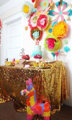 Fancy Fiesta themed birthday party with Lots of Really Fun Ideas via Kara's Party Ideas Mexican Fiesta Party, Fiesta Theme Party, Birthday Party Themes, Fiesta Games, Fiestas Party, Luau Party, Mexican Birthday, Fun Ideas, Party Ideas