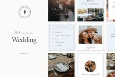 Bohemian Wedding Social Pack by January Made Design on @creativemarket