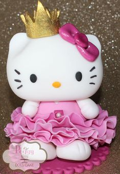 Edible Hello Kitty Cake Topper by icingraincakes on Etsy, $20.00; for all  the grown