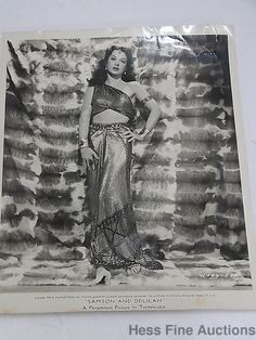 Hedy Lamarr Signed Autograph Ecstasy Delilah Actress Inventor Vienna Photograph