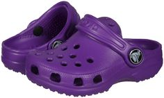 Crocs Classics (Toddler/Youth) - Neon Purple - Free Shipping