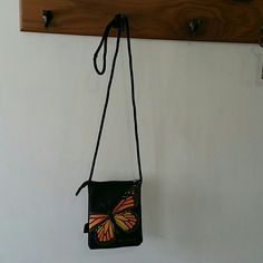 HAROLD FEINSTEIN PURSE LARGE BUTTERFLY PURSE, BLACK,  5.5IN DEEP, 5IN WIDE, 100%POLYESTER,  COLLECTION, HAROLD FEINSTEIN  Bags Shoulder Bags