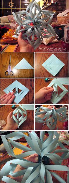 decoração-criativa-baratinha-simples-para-Natal-flor-papel-passo-a-passo