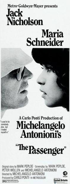 """The Passenger"" aka ""Professione: Reporter"", drama film by Michelangelo Antonioni (Italy, 1975)"