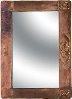 Colonial copper mirror by Rustica House. #myrustica #rusticahouse #coppermirrors #rusticdecor