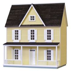 Real Good Toys Finished 1/2 Scale Farmhouse Dollhouse - Yellow: Dolls & Dollhouses : Walmart.com