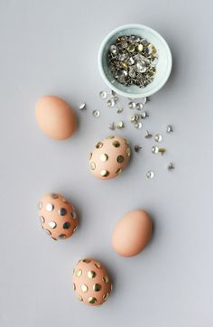 Chic studded Easter eggs.