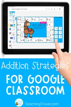 Looking for distance learning activities for your elementary students? Your first grade or second grade kiddos will love learning their addition facts to 20 with these google slides activities. Before playing they read about the mental math strategy and then have three ways to practice applying it. This paperless activity is perfect for building fact fluency and can be used during distance learning in your google classroom.