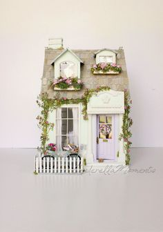 La Couturiere Custom Dollhouse Furnished and Working Lights by cinderellamoments on Etsy