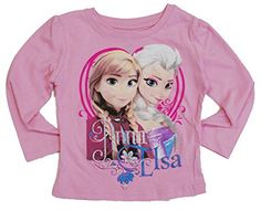 Disney Frozen Elsa Anna Toddler T Shirt Pink