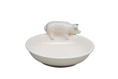 Belinda Berger Galerie - zeitgenössische Keramik & Kunst aus England | Shop-Produkt: Teller mit Schwein | pig plate