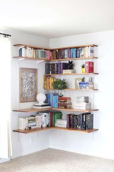 Organize and Decor With Floating Shelves - Home Decor ideas are pretty cheap when you DIY. I am glad that I could find these DIY Home Decor Ideas and pinning for future reference. Every girl should know these Home Decor DIY ideas. #homedecor, #diyhomedecor, #homedecorideas