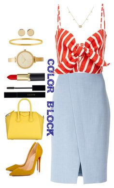 """""""COLOR BLOCK"""" by natalie-collins on Polyvore featuring Akris Punto, Faithfull, Gucci, Givenchy, Magdalena Frackowiak, Christian Louboutin and Michael Kors"""
