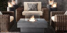 I meant to order this for this summer... 2013 patio season won't commence until I get one!  Fire Tables & Columns | Restoration Hardware