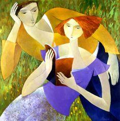 """""""Lecture"""", di Françoise Collandre (b. 1939)"""