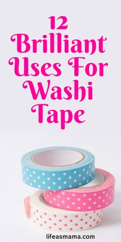 DIY: Washi Tape is so versatile and perfect for crafts! Whether you love organizing or a good craft session, you will love this article on 12 brilliant ways to incorporate washi tape into your life! Washi Tape Uses, Washi Tape Cards, Duct Tape, Masking Tape, Washi Tapes, Washi Tape Notebook, Washi Tape Planner, Tapas, Mason Jar Crafts