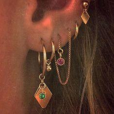 Karo ♦ ohrring - H - Jewels - Piercing Cute Jewelry, Jewelry Accessories, Jewelry Shop, Trendy Jewelry, Jewelry Ideas, Silver Jewelry, Cheap Jewelry, Boho Jewelry, Vintage Jewelry