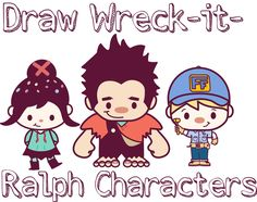 Today I'll show you how to draw super-cute Wreck-it-Ralph characters, including Vanellope (Glitch), Fix-it Felix, and Ralph. These are baby-like version (kawaii /chibi style) of the Wreck it Ralph characters so they are much easier to learn how to draw. Easy People Drawings, Cartoon Drawings Of Animals, Cute Animal Drawings, Animal Sketches, Easy Drawings, Kawaii Chibi, Cute Chibi, Kawaii Art, Cartoon Drawing Tutorial