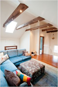 Living rooms with beams that will inspire pinterest attic recessed lighting on wood ceiling google search aloadofball Images
