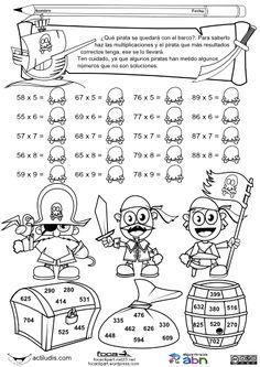 07 Multiplicandor y multiplicador dificil 01 Math Games, Math Activities, Math Exercises, Math Multiplication, Christmas Math, Math Art, English Fun, Free Math, 3rd Grade Math