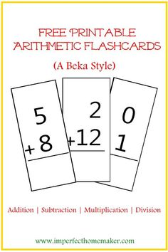 free printable flashcards addition 0 12 from 1 1 1 1 printables more kids learning. Black Bedroom Furniture Sets. Home Design Ideas