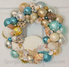 Vintage Ornament Wreath by georgiapeachez, via Flickr