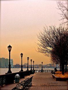 Battery Park City esplanade  NYC