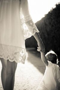 Mother & daughter holding hands...forever.