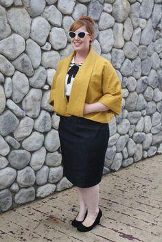 Betsy skirt and Ava jacket from BlueGingerDoll patterns.