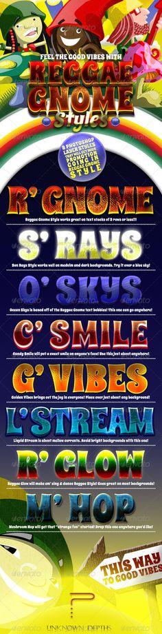 Reggae Gnomes - Layer Styles
