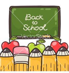 Cute back to school background vector by kostolom3000 on VectorStock®