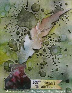 Cards by Mou Saha using Sizzix Alterations dies and embossing folders by Tim Holtz