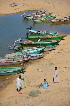 Lakefarers.. Nasser Lake, near Sudanese border Abu Simbel, Aswan, Egypt   by robertschrader, via Flickr