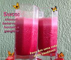 Colorindo a vida: Suco de abacaxi, beterraba, hortelã e gengibre. Além de lindo, delicioso!
