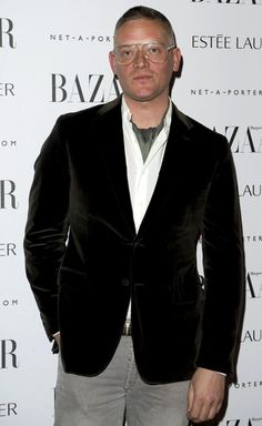 Giles Deacon, veryfirstto.com Luxforecast Connoisseur, at the Harper's Bazaar Women of the Year Awards.