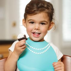 """This adorable """"breakfast-At-moms"""" Baby Bib is stylish and extremely functional! #mmdbaby"""