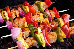 Super healthy and simple BBQ Shrimp Kabobs