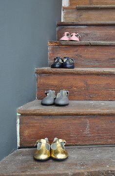 trap van oud hout