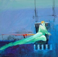 Like the color and comp in this abstract figure painting by Robert Burridge http://www.robertburridge.com
