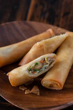 Vegetable Spring Rolls (Egg Rolls) - these are so light and delicious, you'll never want to order them from a restaurant again! http://www.steamykitchen.com/25778-vegetable-egg-rolls-recipe-video.html